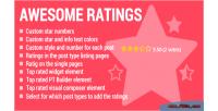 Awesome ratings ultimate ajax plugin wp rating