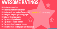 Awesome ratings ultimate ajax plugin wp rating