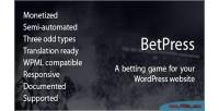 Betting betpress game plugin