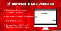 Broken wordpress image verifier