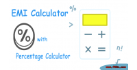 Calculator emi calculator percentage with