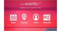 An eventsnet events plugin wordpress management