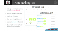Booking team system booking wordppress