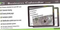 Calendar business calendar internal wordpress