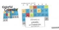 Calendar colorful