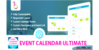 Calendar event ultimate wordpress