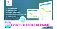Calendar event ultimate wordpress