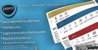 Calender event wordpress