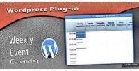 Calender weekly wp plugin
