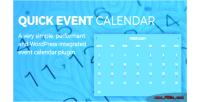 Event quick calendar