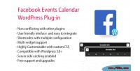 Events facebook plugin wordpress calendar