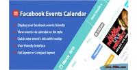 Events facebook wordpress for calendar
