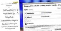 Google ical xml event wordpress for calendar