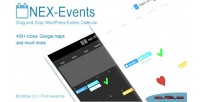 Nex events drag drop calendar events wordpress