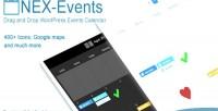 Nex events drag drop calendar events wordpress