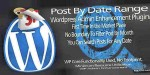 Plugin wordpress post range date by