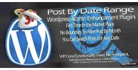 Plugin wordpress post range date by