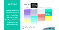 Timetable responsive for wordpress