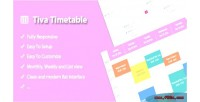 Timetable tiva for wordpress