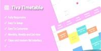 Timetable tiva for wordpress