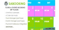 Tours sabooking events plugin wp booking