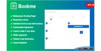 Wordpress bookme booking plugin