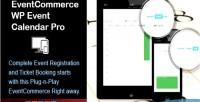Wp eventcommerce responsive pro calendar event