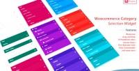 Category woocommerce selection widget