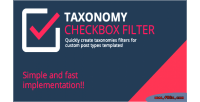 Checkbox taxonomy filter
