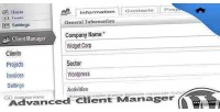 Client advanced wordpress for manager