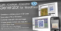 Color qr code wordpress for generator