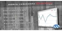 Comments admin statistics