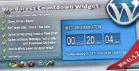 Countdown broadcast widget