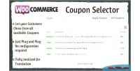 Coupon woocommerce selector
