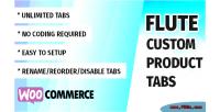 Custom flute product woocommerce for tabs