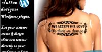 Designer tattoo wordpress plugin