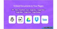 Document embed from media google library drive box & dropbox
