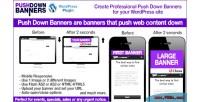 Down push plugin wordpress banners