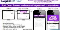 Down push plugin wordpress banners