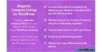 Category magento wordpress for listing