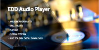 Digital easy downloads player product sampler audio