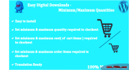 Digital easy downloads quantities maximum minimum