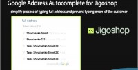 Address google jigoshop for autocomplete