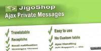Ajax jigoshop private message