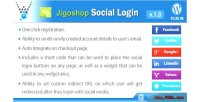 Social jigoshop plugin wordpress login