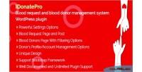 Blood idonatepro request & donor blood management plugin wordpress system