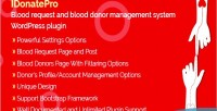 Blood idonatepro request & donor blood management plugin wordpress system