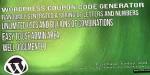 Coupon wordpress code generator