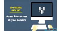 Database wp fetch pro