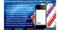 Hotel booking system pro plugin wordpress hotel